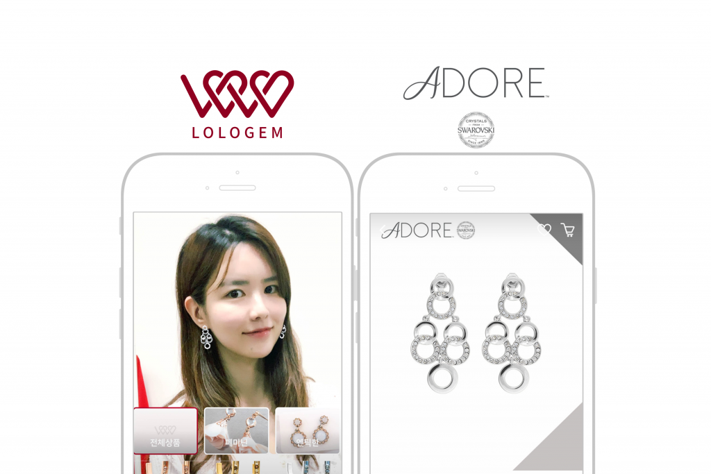Fashion Tech Start-up Lologem signed a business agreement with Swarovski Group's contemporary jewelry brand ADORE's Korea's official distributor KCENT.